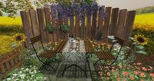 CJ Sunset Garden Patio Place Table FULL Set