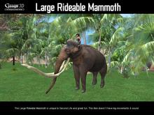Gaagii - Large Rideable Mammoth (Great Fun)