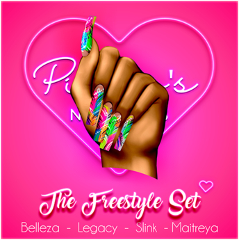 !! Pinky's Nails !! Freestyle Set