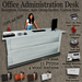 Office Administration Desk, Info point, Greeter, Message recorder, List and counter visitor 100% Mesh NEW 12 Wood model