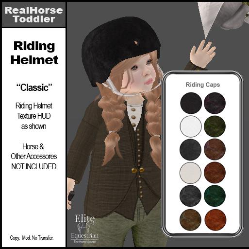 *E* Toddler English Riding Helmet Classic   [Add & Click]