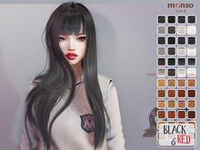 [monso] My Hair - Mel /Black & Red