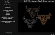 Bull Wireframe - Wall decor