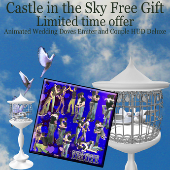 Wedding Gift Free 2020 Doves Cage w/ animated doves emitter + Cuddle HUD Professional Gift for new Opening Main Store