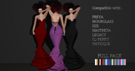 MI.CO Kala Lace up gown 20 Colours Wear Me
