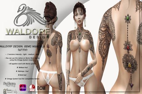 Waldorf Design. Gems Mandala Tatto  -BENTO-