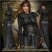 {AS} Hervor Fitted Mesh Gown: Black; Viking, Shieldmaiden, Torvaldsland, Maitreya, Physique, Hourglass, Freya, Venus