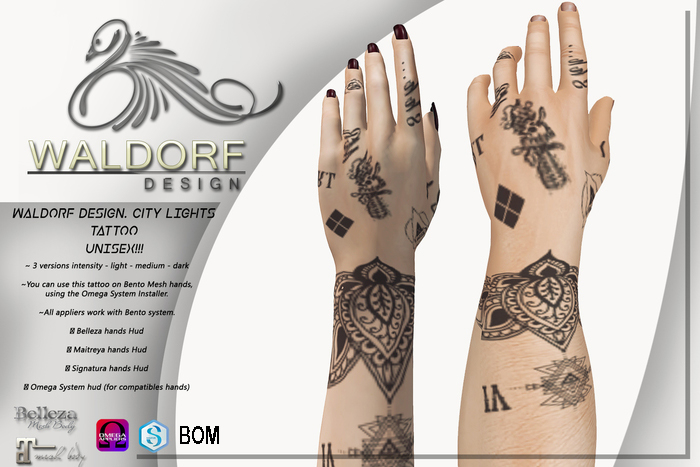 Waldorf Design. City Lights Tattoo (BOM)