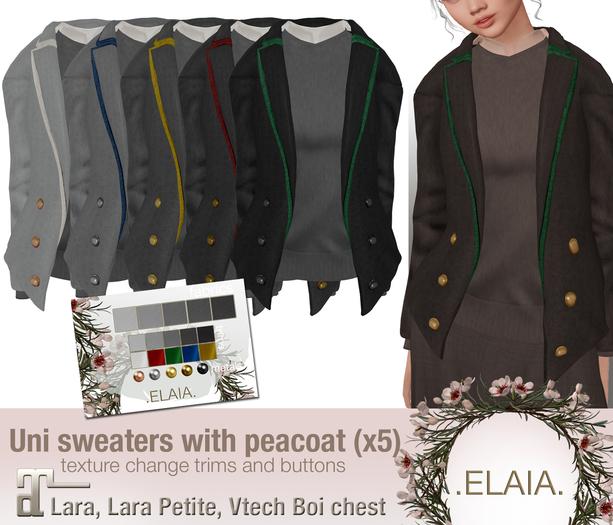.Elaia. Uniform sweater .w/ peacoat {Maitreya} Greys