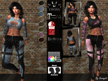 V-Twins - Panther Biker for Maitreya,  Belleza Freya & Venus, and Slink