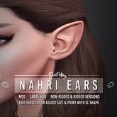 Sweet Thing. Nahri Elf Ears (Rigged & Non-Rigged) (add)