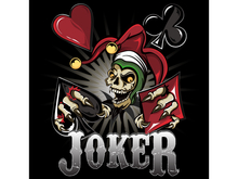 Joker Poker Skull Poster