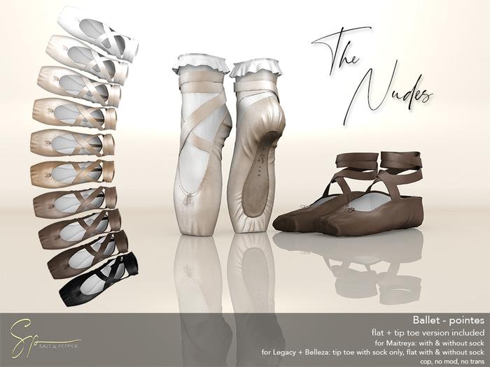 S&P Ballet pointes nudes (wear to unpack)