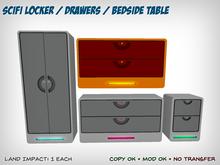 SciFi Locker / Drawers / Bedside Table