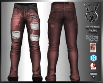+V8-SHOP-REVENGE PANTS+RED+