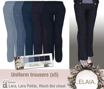 .Elaia. Uniform trousers {Maitreya} Blues