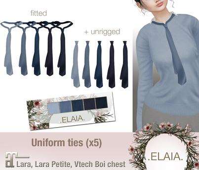 .Elaia. Uniform tie {Maitreya} Blues