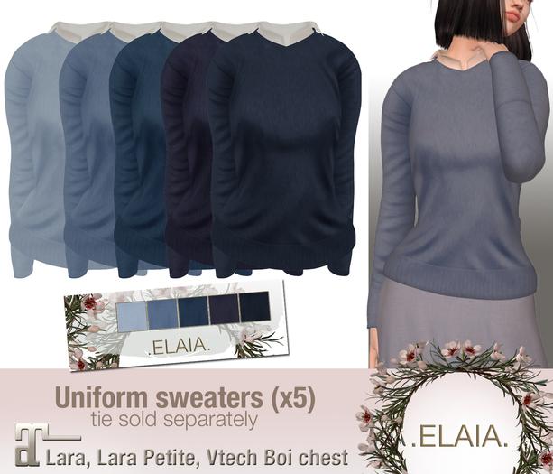 .Elaia. Uniform sweater {Maitreya} Blues