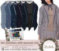 .Elaia. Uniform sweater .w/ peacoat {Maitreya} Blues