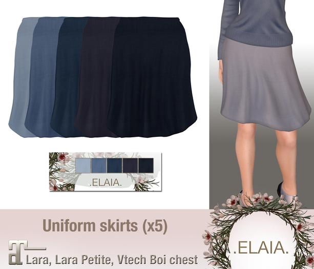 .Elaia. Uniform skirt {Maitreya} Blues
