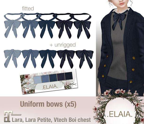 .Elaia. Uniform bow {Maitreya} Blues