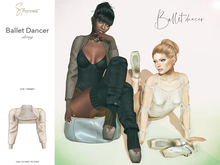 S&P Ballet shrug cream (wear to unpack)