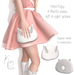 [: Kawaii Couture :] Bunny Bag Clutch Purse FATPACK