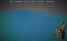 Mesh Real Animated water 1 impact scripted Full perm