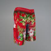 Red Hibiscus Signature Shorts