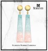MAVANTI - Fearless Marble Earrings [Ombre]