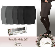 .Elaia. Pencil skirt {Maitreya} Greys