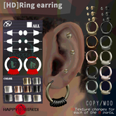 [HD]Ring earring -10Texture 8parts change