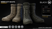 [WAZ] WDB Duty Boots (Black) BOXED [Add/Rezz]