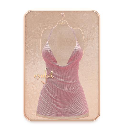 Cynful Sparkle Dress - Rose   Maitreya Lara, (+ Petite), Belleza Freya, Slink (HG), Legacy, (+Perky), Kupra