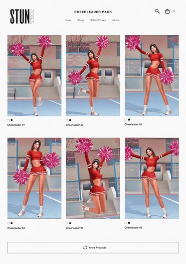 STUN - Pose Pack Collection Bento 'Cheerleader' #117