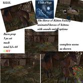 The animated Horse & kitten Families farm scene-crate