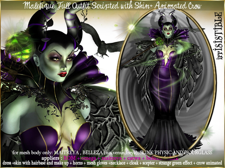 Secondlife Halloween 2020 Second Life Marketplace   irrISIStible : HALLOWEEN MALEFIQUE FULL