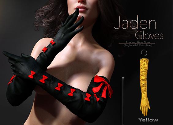 [[ Masoom ]] Jaden Gloves- Yellow-Legacy Original & Perky, Lara Original & Petite, Freya