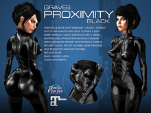 GRAVES Proximity - Black - leather latex bodysuit, catsuit, plugsuit, undersuit - Maitreya and Omega appliers