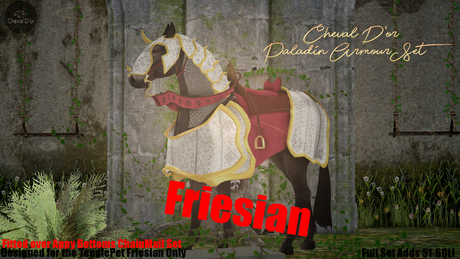 Cheval D'or / TeeglePet Friesian / Paladin Armour Set.