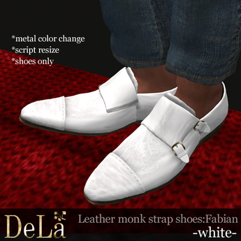 Leather Monk Strap Shoes \