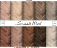 Laminate Wood Builders Kit 10 Seamless Textures NM