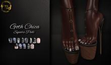 ~GD~Goth Chica(Square Pedi - Legacy Mesh Feet (f)