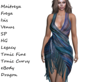 ~PP~ Shimmering Sheer Shawl Dress -Nightfall
