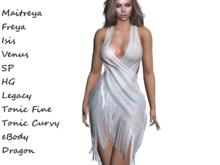 ~PP~ Shimmering Sheer Shawl Dress -  Pearl Lace
