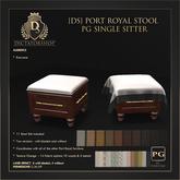 [Ds] PORT ROYAL Stool PG SINGLE SITTER