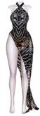 DENVER'S Moon Gown Animal Prind Semi Sheer