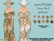 [hh] Junetta Off Shoulder Belted Dress Set