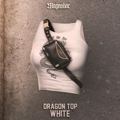 Magnoliac - Dragon Top (White)