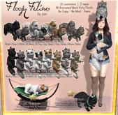 JIAN Floofy Felines :: Head Clinger - Black (BOX)